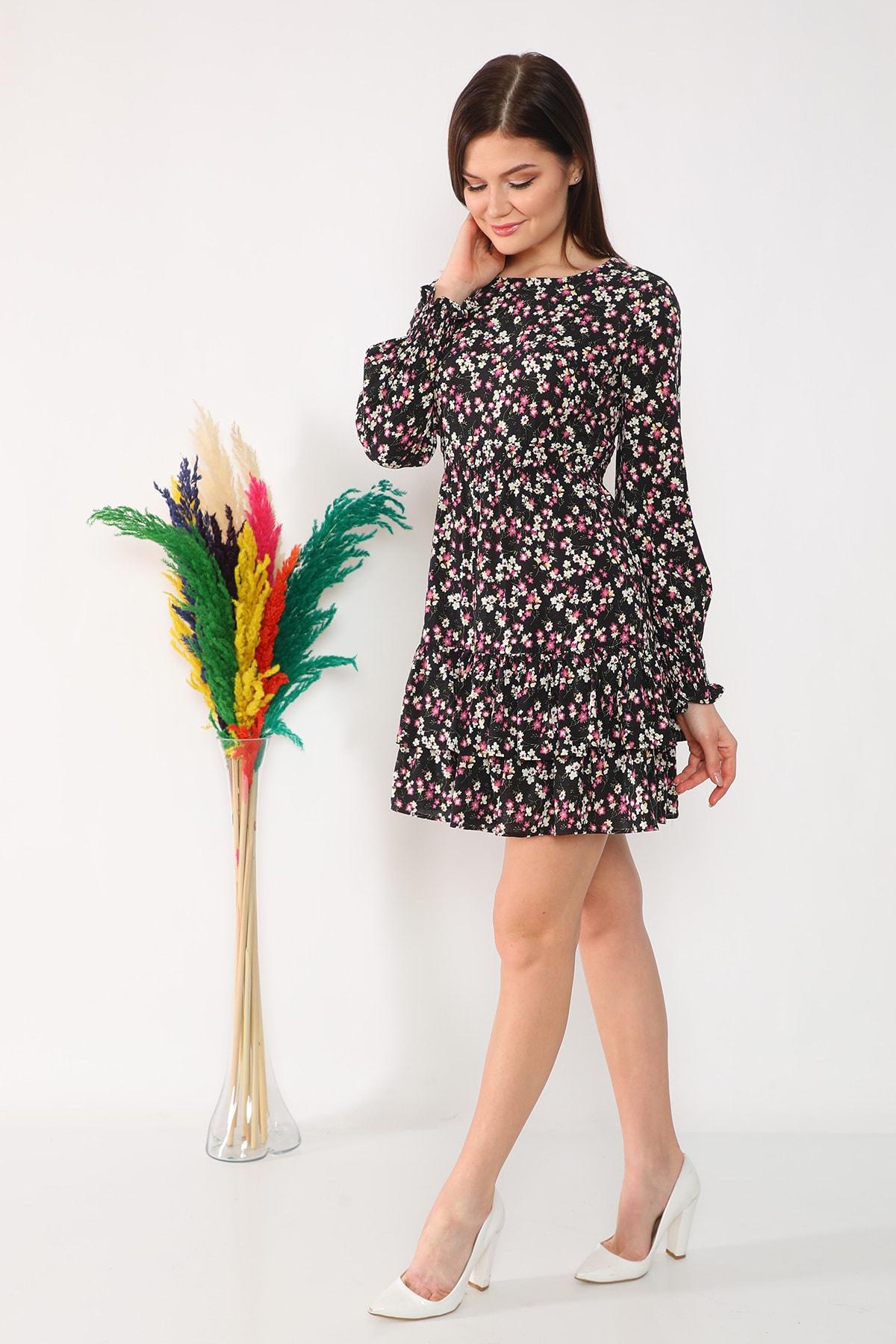 etselements Etek Ucu Fırfırlı Elbise 2