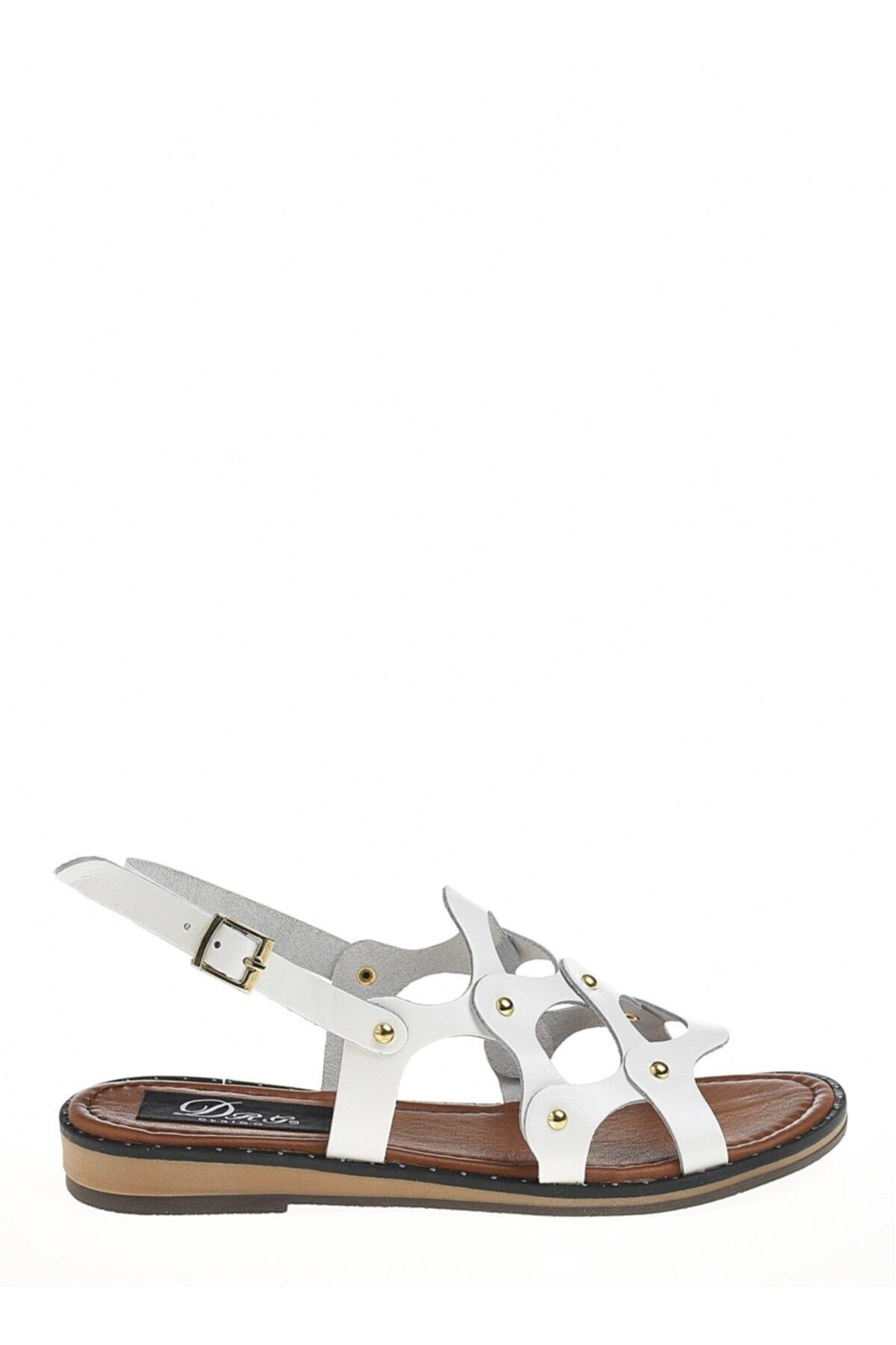 Derigo Beyaz Kadın Sandalet 521228 2