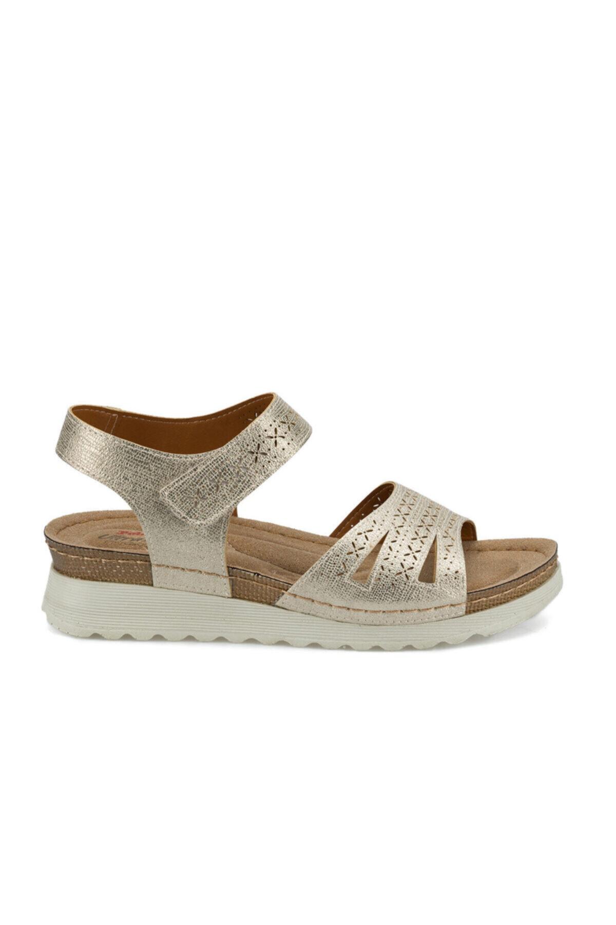 Polaris 161167.Z Altın Kadın Sandalet 100509628 2