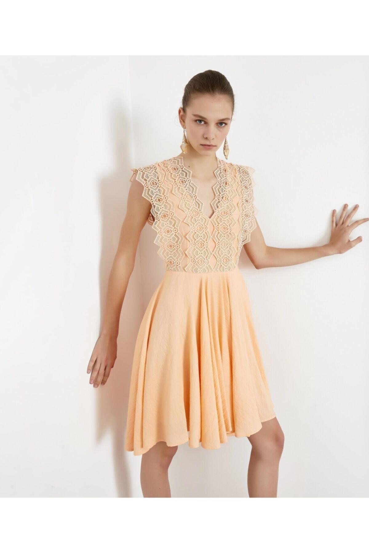 İpekyol Güpür Mixli Elbise 2