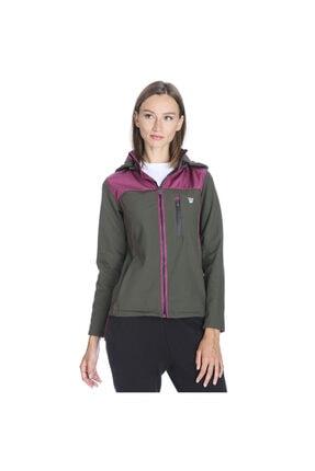 Sportive Kadın Haki Kapüşonlu Outdoor Mont 710437-fmr