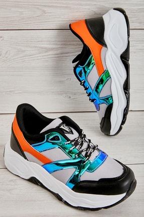 Bambi Gri/laci/siyah Kadın Sneaker L0613656022