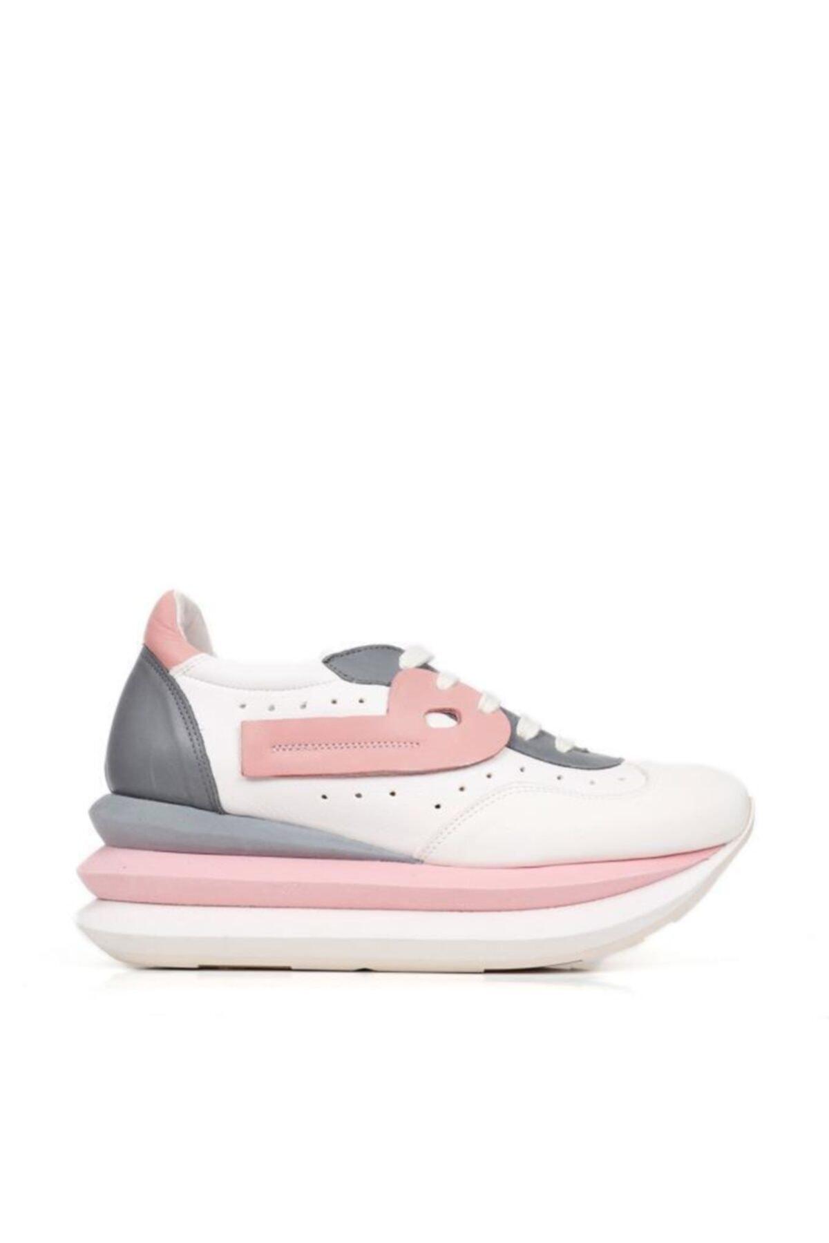BUENO Shoes Hakiki Deri File Detaylı Bağcıklı Kadın Spor Ayakkabı 20wq10400 1