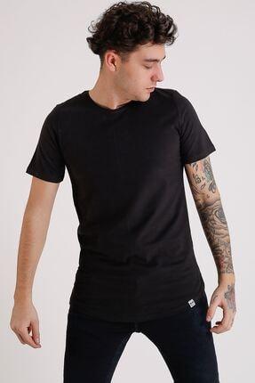 LTC Jeans Bisiklet Yaka Basic Oval Kesim Siyah Erkek T-shirt
