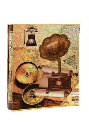 Dijital Dünyası 600'lük 10x15 Kutulu Gramafon Desenli Fotoğraf Albümü