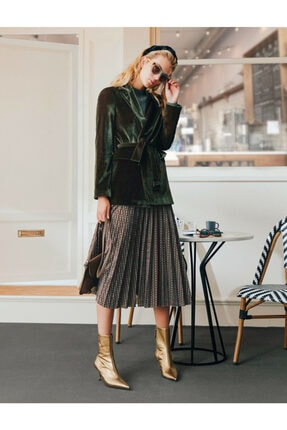 Koton Skirtly Yours Styled By Melis Agazat - Pileli Midi Etek
