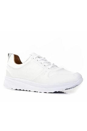 Cabani Bağcıklı Günlük Kadın Ayakkabı Beyaz Deri