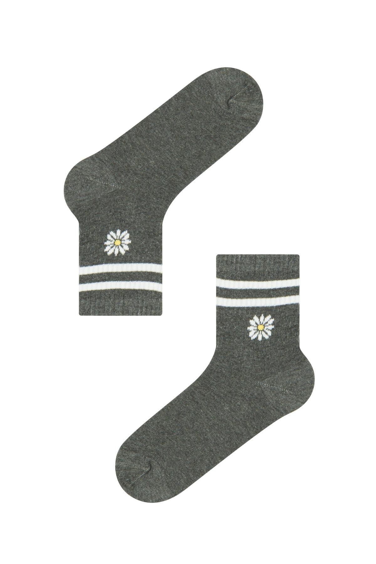 Penti Kadın Kül Rengi Cool Lıttle Daısy Soket Çorap