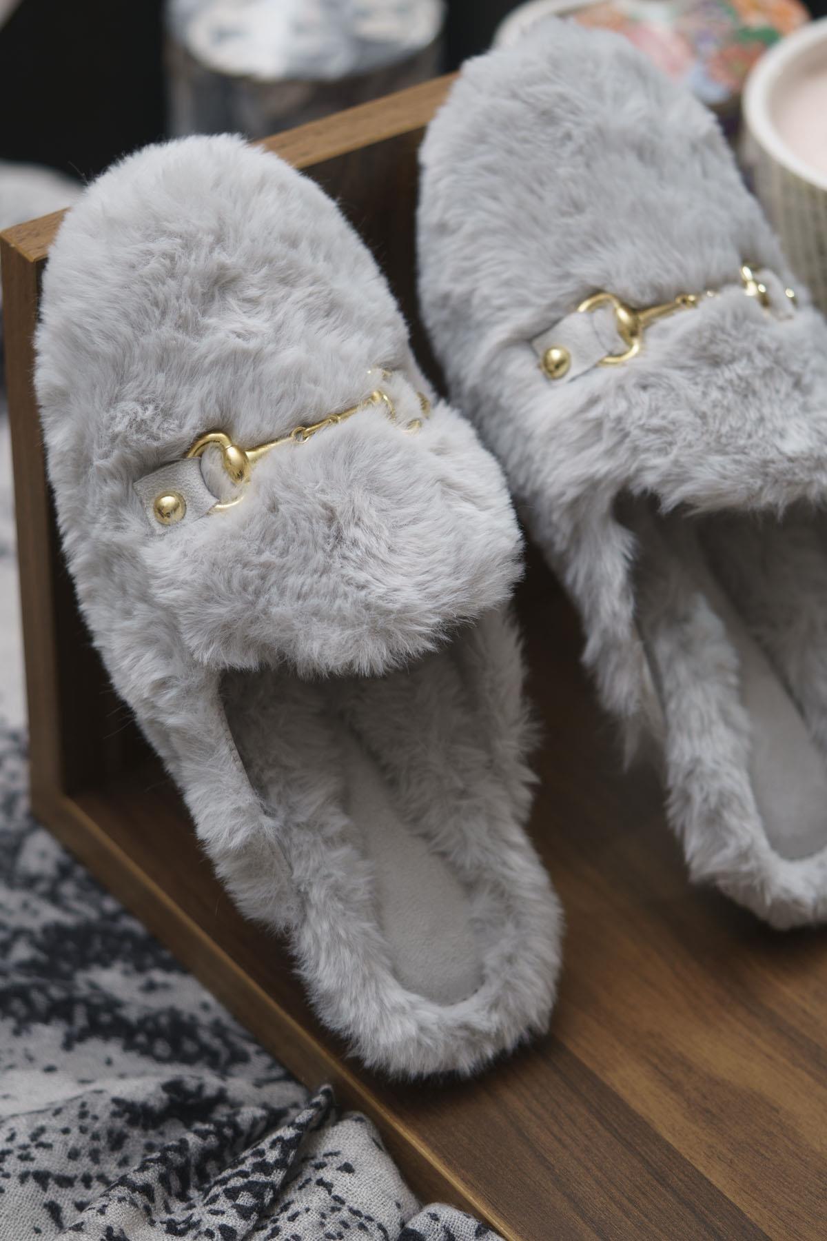 OCT Shoes Kadın Peluş Terlik Ts1054 1