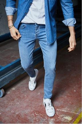 Sateen Men Erkek Mavi Slimfit Denim Pantolon
