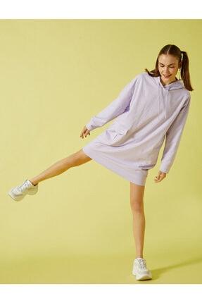 Koton Kadın Mor Uzun Sweatshirt