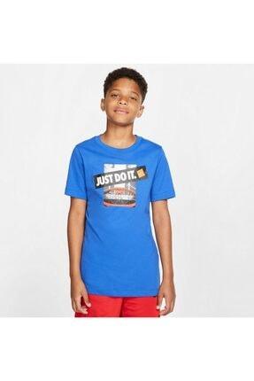 Nike Unisex Çocuk Mavi B Nk Dry Tee Dfc Jdi Backboard Tişört Cı9659-480