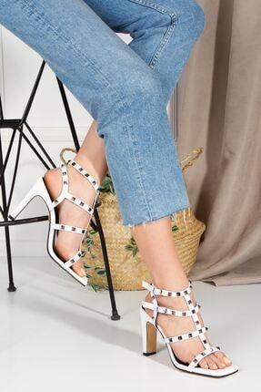 derithy Broteas Topuklu Ayakkabı-beyaz-byc0900