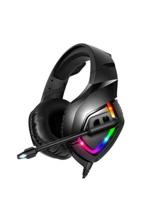 zore Oyuncu Kulaklığı Gaming Surround Extra Bass 3.5mm Jack Mikrofonlu Ledli Rgb Detay Süngerli