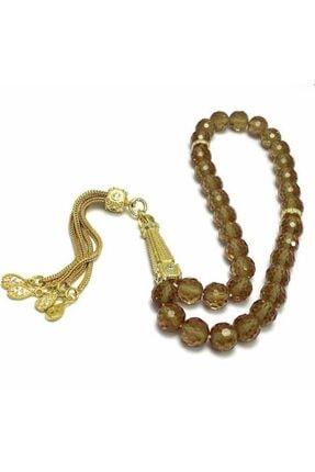 LEON SİLVER 925 Ayar Gümüş Üzeri Altın Kaplama Imame Ve Püskül Zultanit Taşlı Tesbih