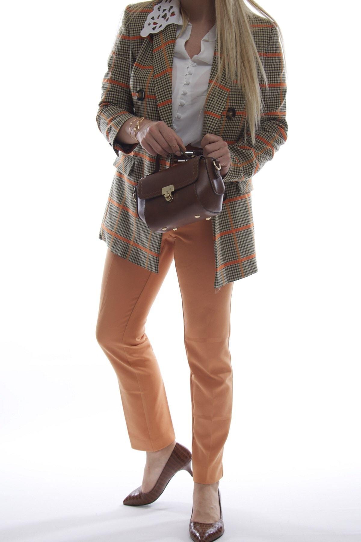 Fume London Kadın Taba Mini Fermuarlı Kapaklı Askılı Omuz ve El Çantası Fb3013 2