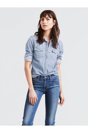 Levi's Kadın Mavi Ultimate Western Jean Gömlek 86832-0000