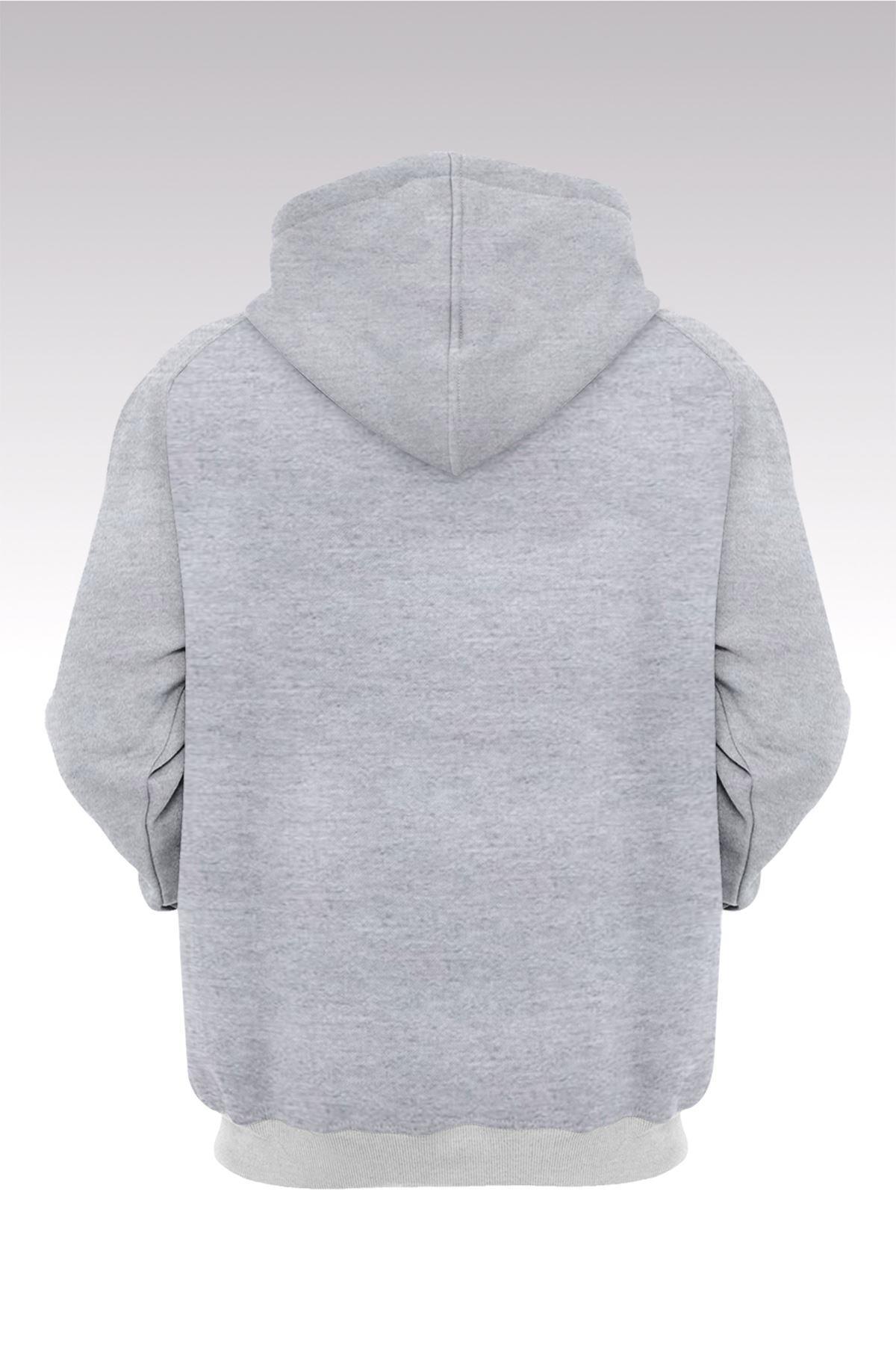 Kesha Jumpman 181 Gri Kapşonlu Sweatshirt - Hoodie 2