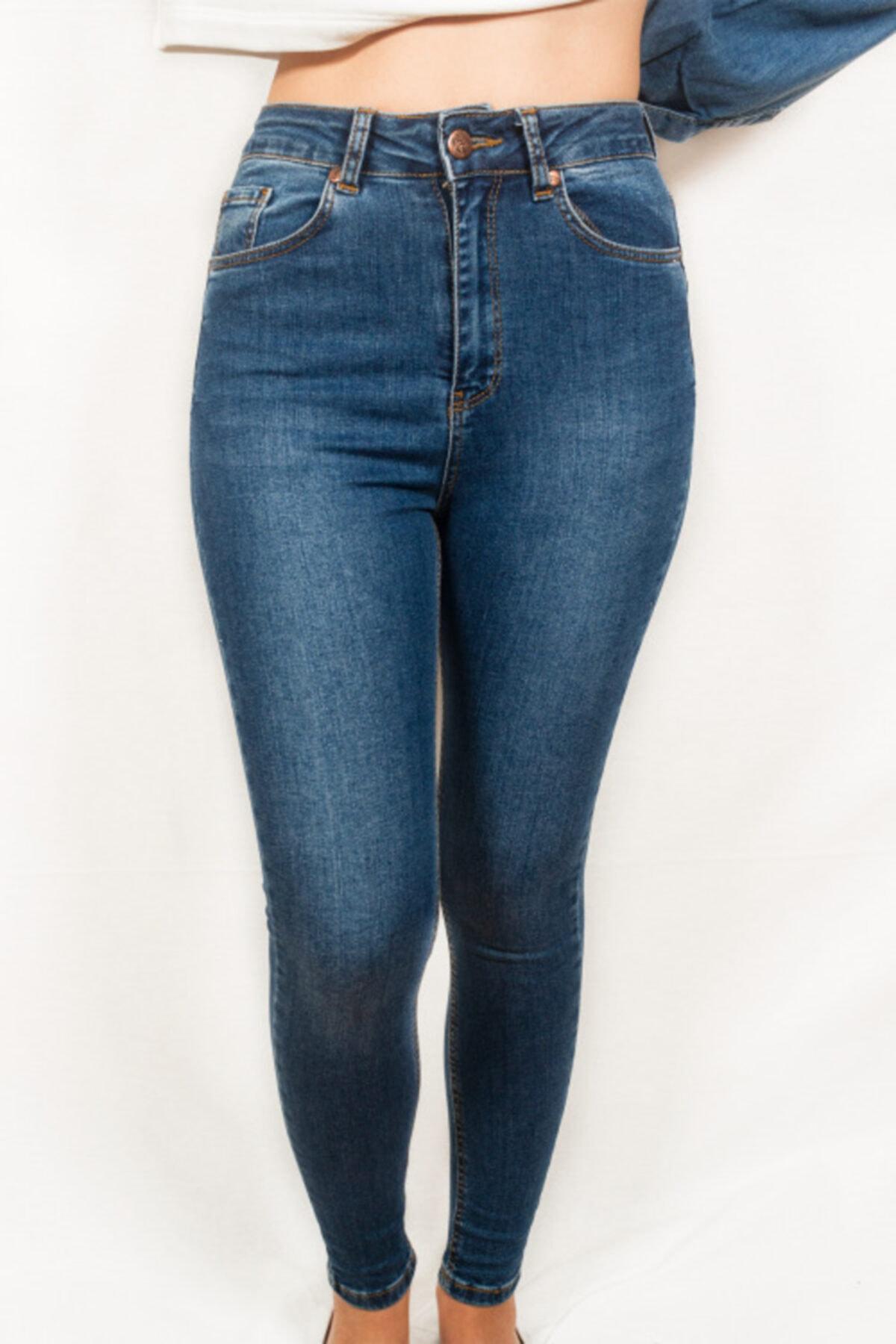 Maze Butik Kadın Yüksek Bel Kot Pantolon 1