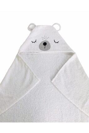 JUNİPERUS %100 Pamuk Ayıcık Banyo Havlu Kundak