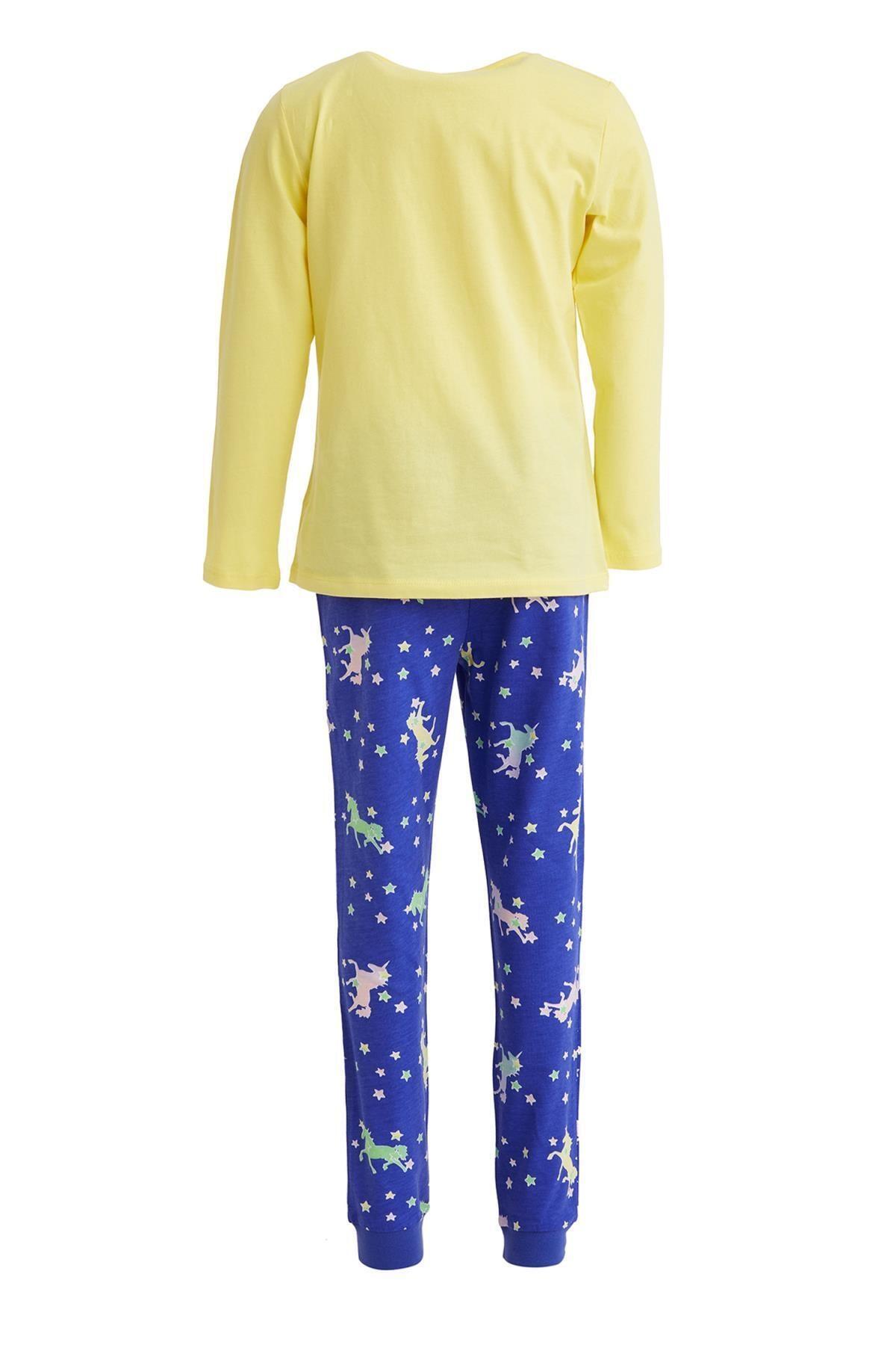 DeFacto Kız Çocuk Unicorn Baskılı Pijama Takım 2