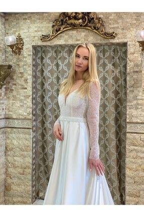 balginteks Kadın Beyaz İşlemeli Gelinlik