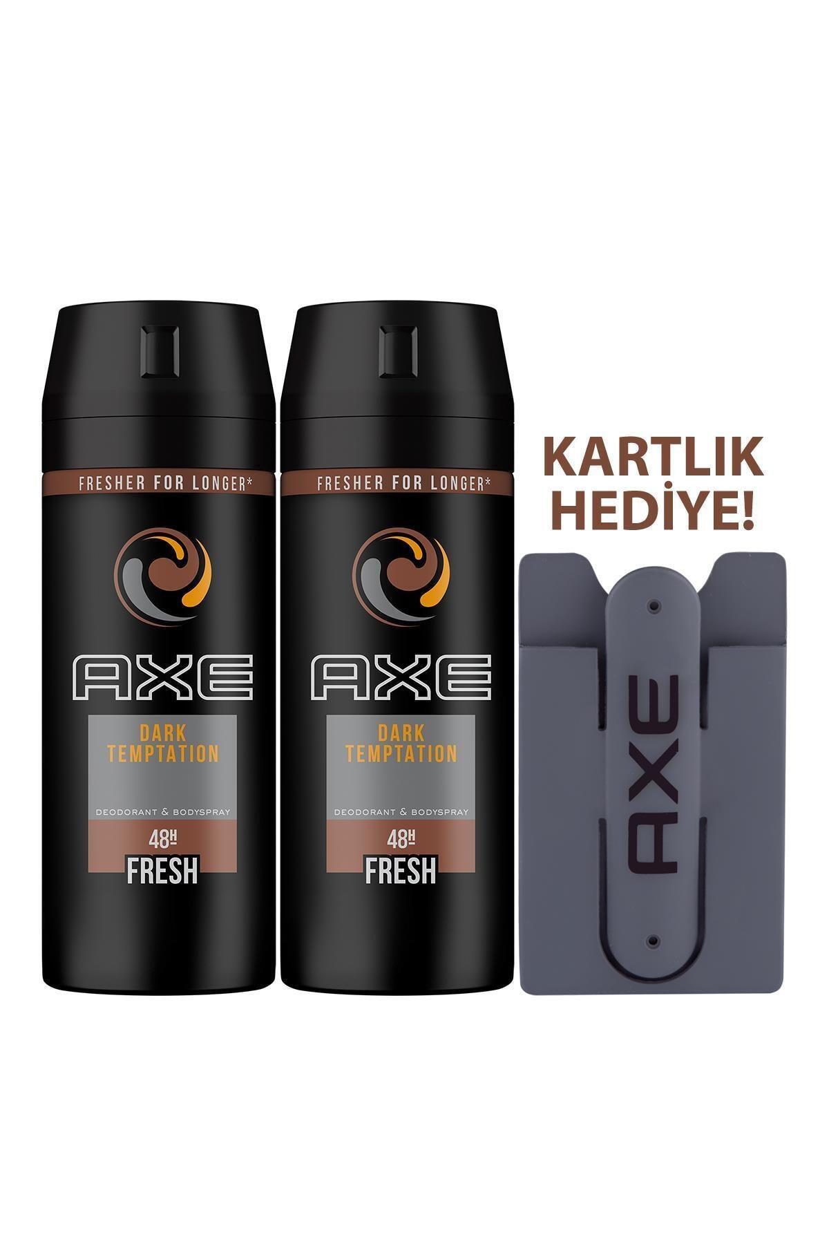 Axe Dark Temptation Deodorant Sprey 150 ml X 2 + Kartlık 2