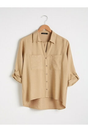 LC Waikiki Kadın Bej Gömlek