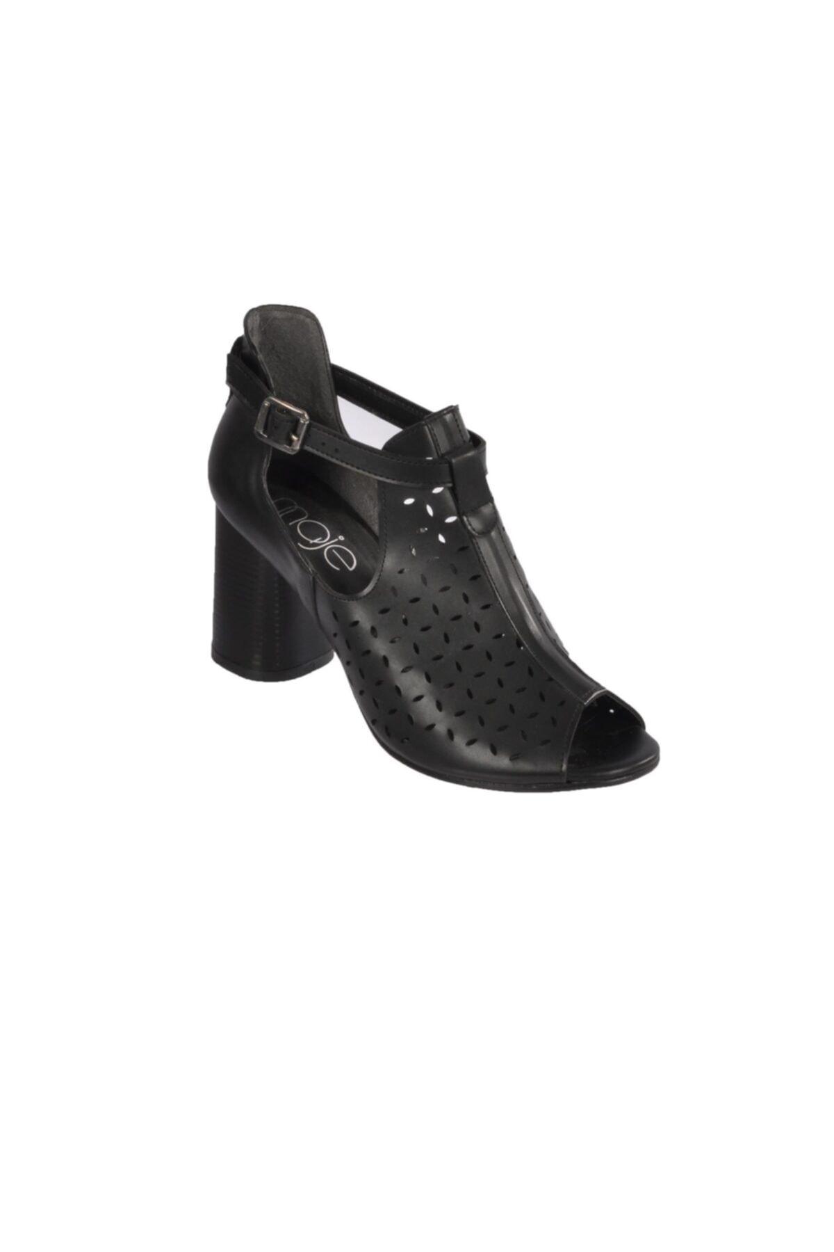 Maje Kadın  Siyah Topuklu Ayakkabı 1
