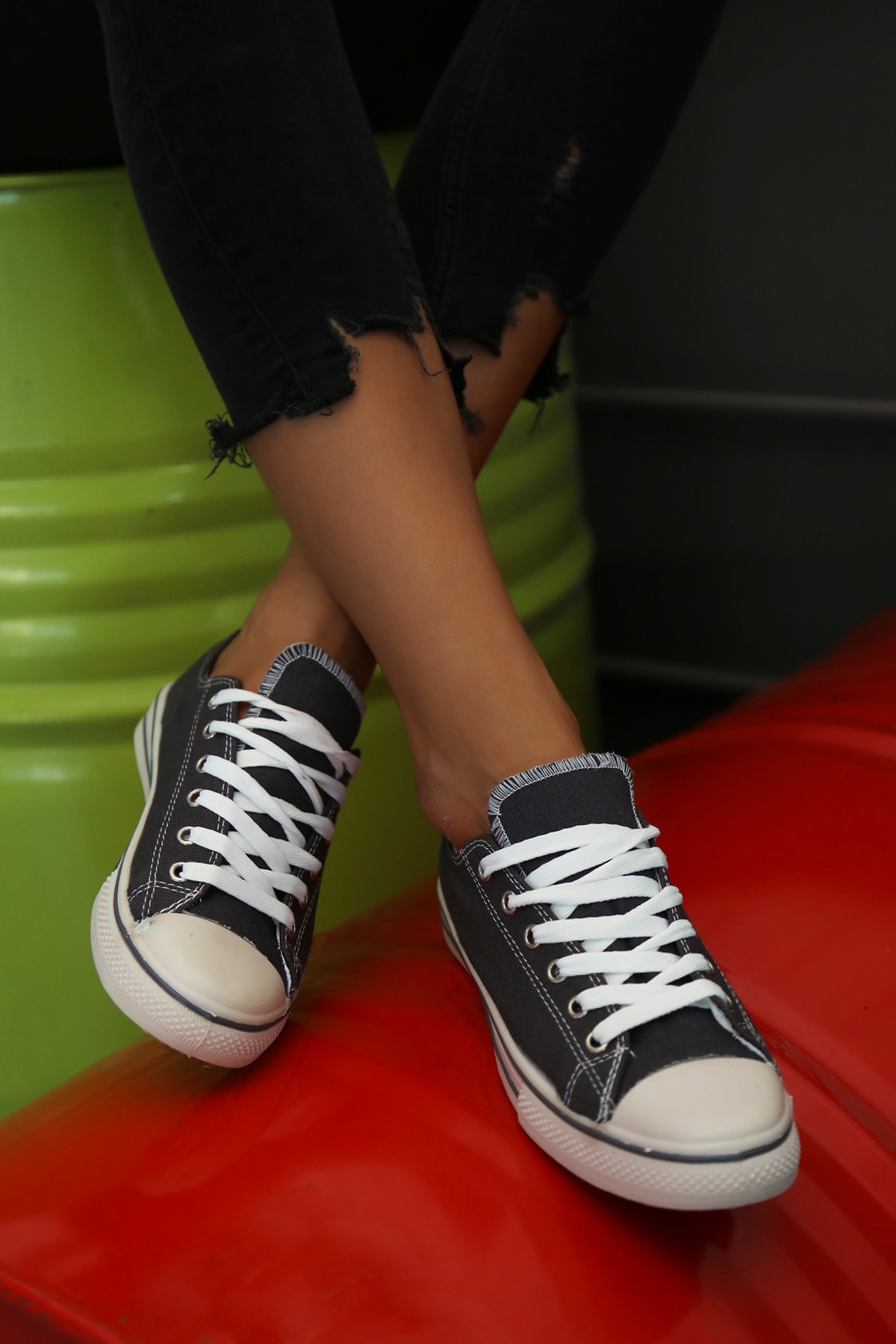 Ayakkabı Modası Füme Kadın Ayakkabı M9999-19-100165R 2
