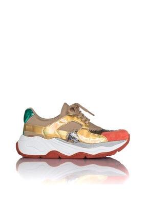 İnci Kadın Bej Vegan Süet Dalgıç Slip On Bağcıklı Klasik Spor Ayakkabı -3002