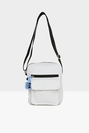 Bagmori Kadın Beyaz Cepli Mini Çanta M000005445