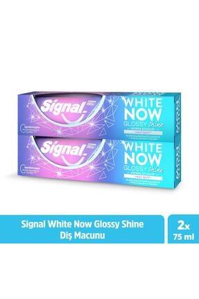 Signal White Now Glossy Shine Anında Beyazlık Diş Macunu 75 ml X2