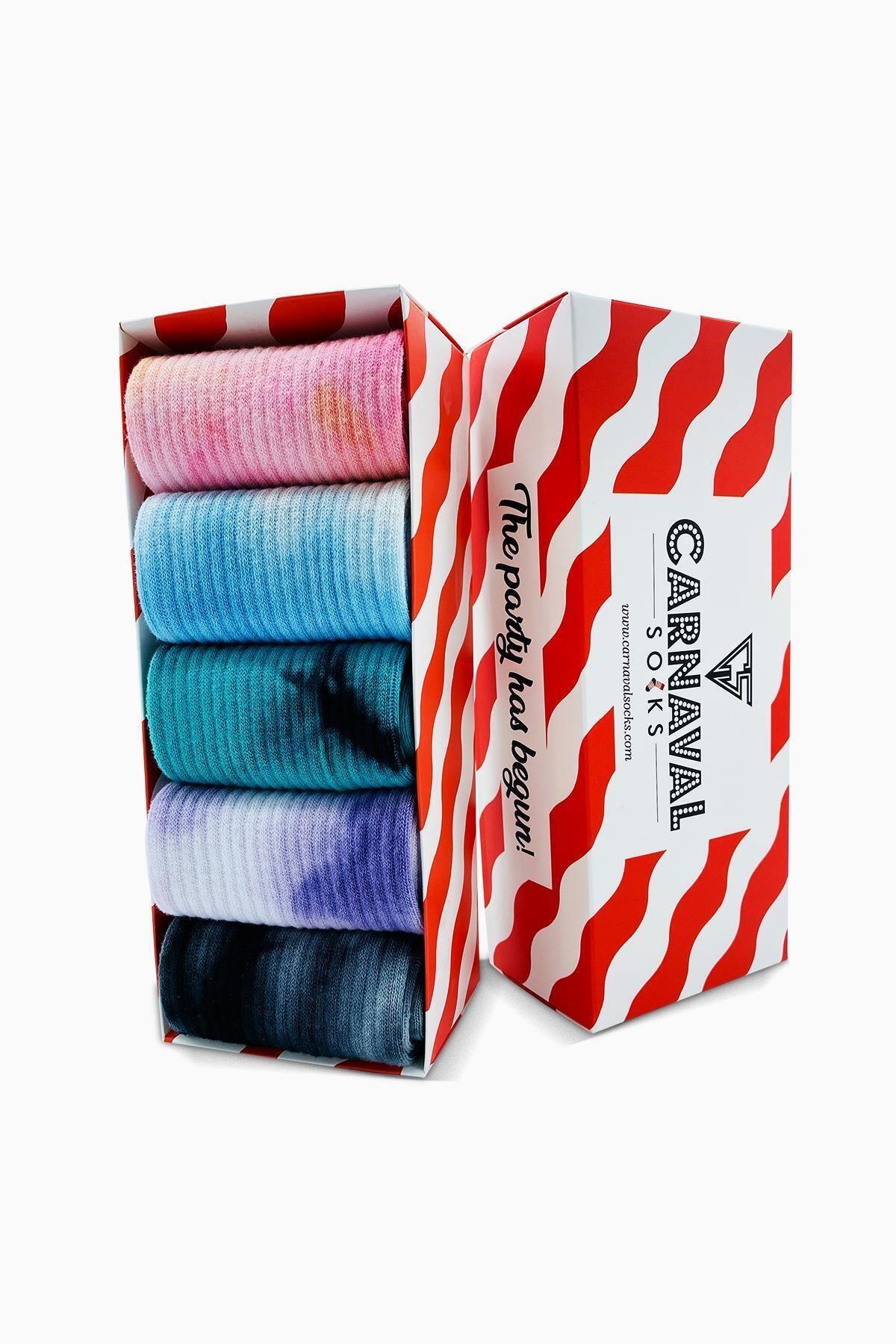 CARNAVAL SOCKS 5'li Batik Çorap Renkli Tasarım Set 1