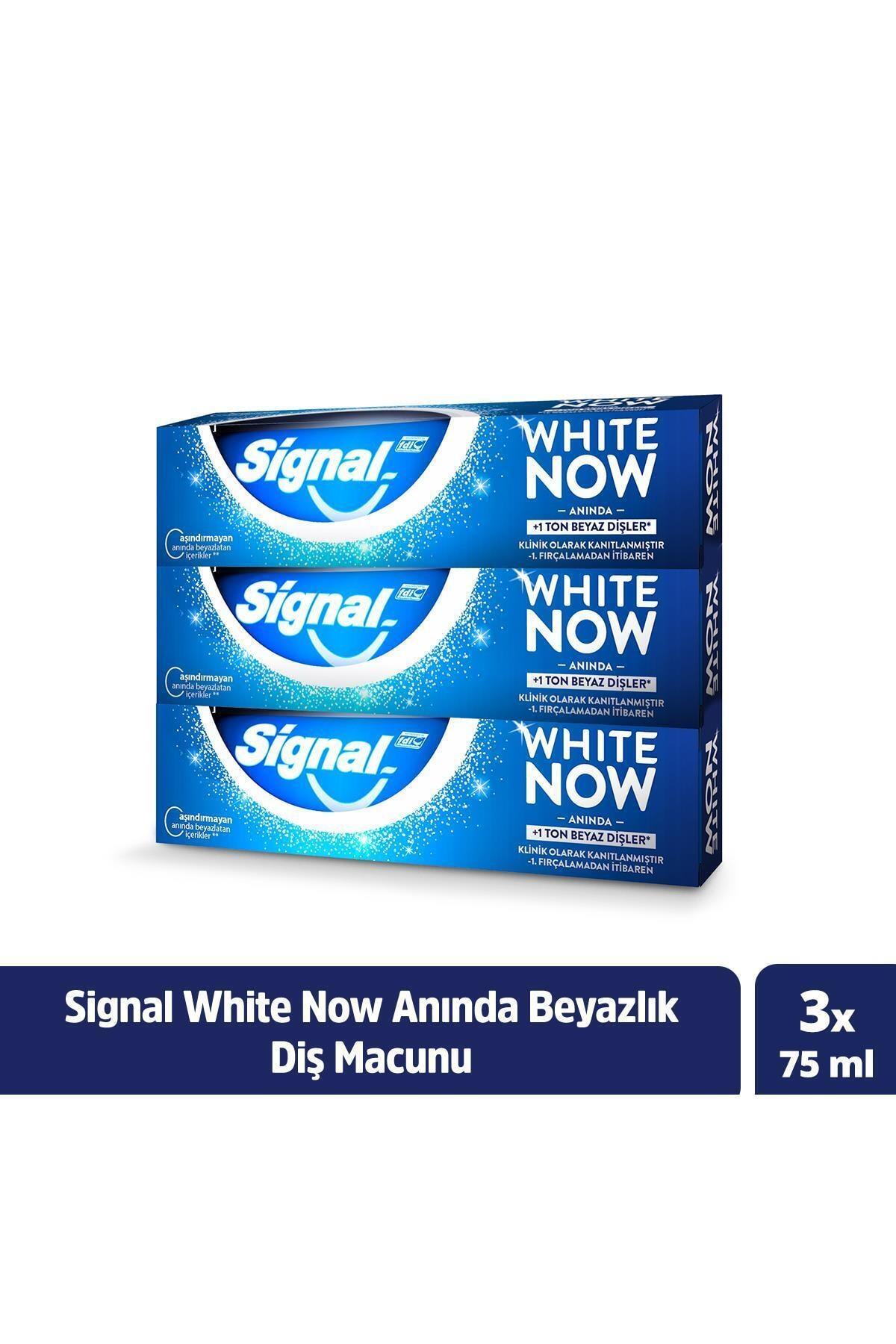 Signal White Now Anında Beyazlık Sağlayan Diş Macunu 75 ml X3 1