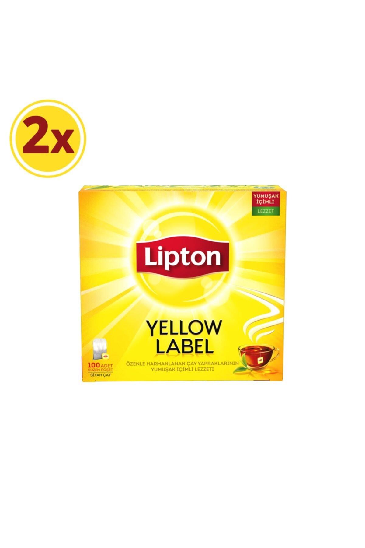 Lipton Yellow Label Bardak Poşet Çay 100'lü X 2 Adet 1
