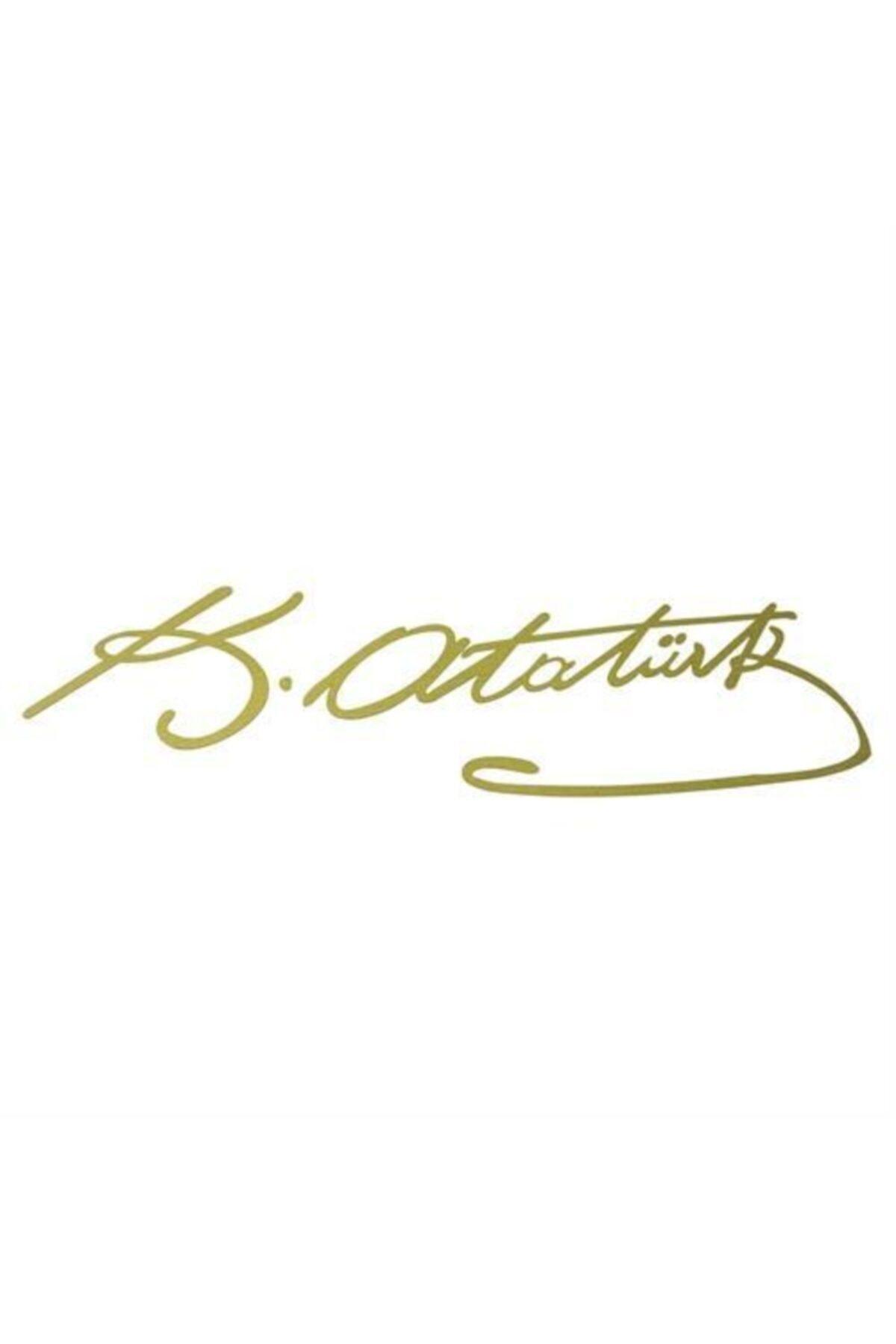 Tvet 20 Cm Altın Rengi K.atatürk Imza Sticker Sk002741 1
