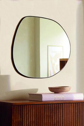 LYN HOME & DECOR Siyah Asimetrik Ayna