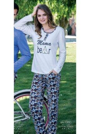 Yeni İnci Kadın Ekru Pijama Takım 1380