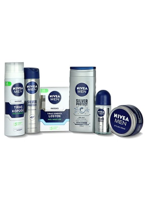 Nivea Men Silver Protect Erkek Bakım Seti + Saç Şekillendirici Krem 150 ml