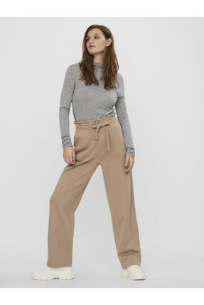 Vero Moda Kadın Ekru Yüksek Bel Sweat Pantolon