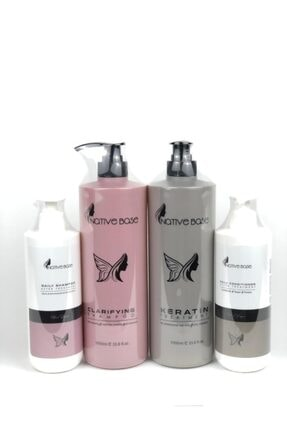 Native Base Keratin Bakım Ve Daily Günlük Şampuan Saç Kremi 4lü Set Nativebasekeratinset4lu
