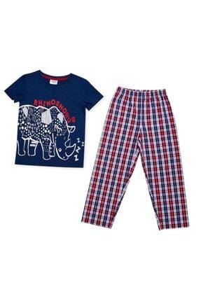 Wonder Kıds Erkek Çocuk Lacivert Pijama Takımı Wk18ss5650