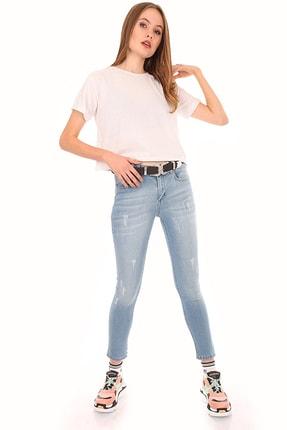 Bigdart Kadın Mavi Tırnaklı Kot Pantolon 6449
