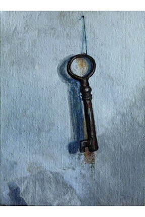 artoloji Emir Furkan Tekkalmaz,Anahtar,Tuval üzerine yağlıboya,40x30 cm