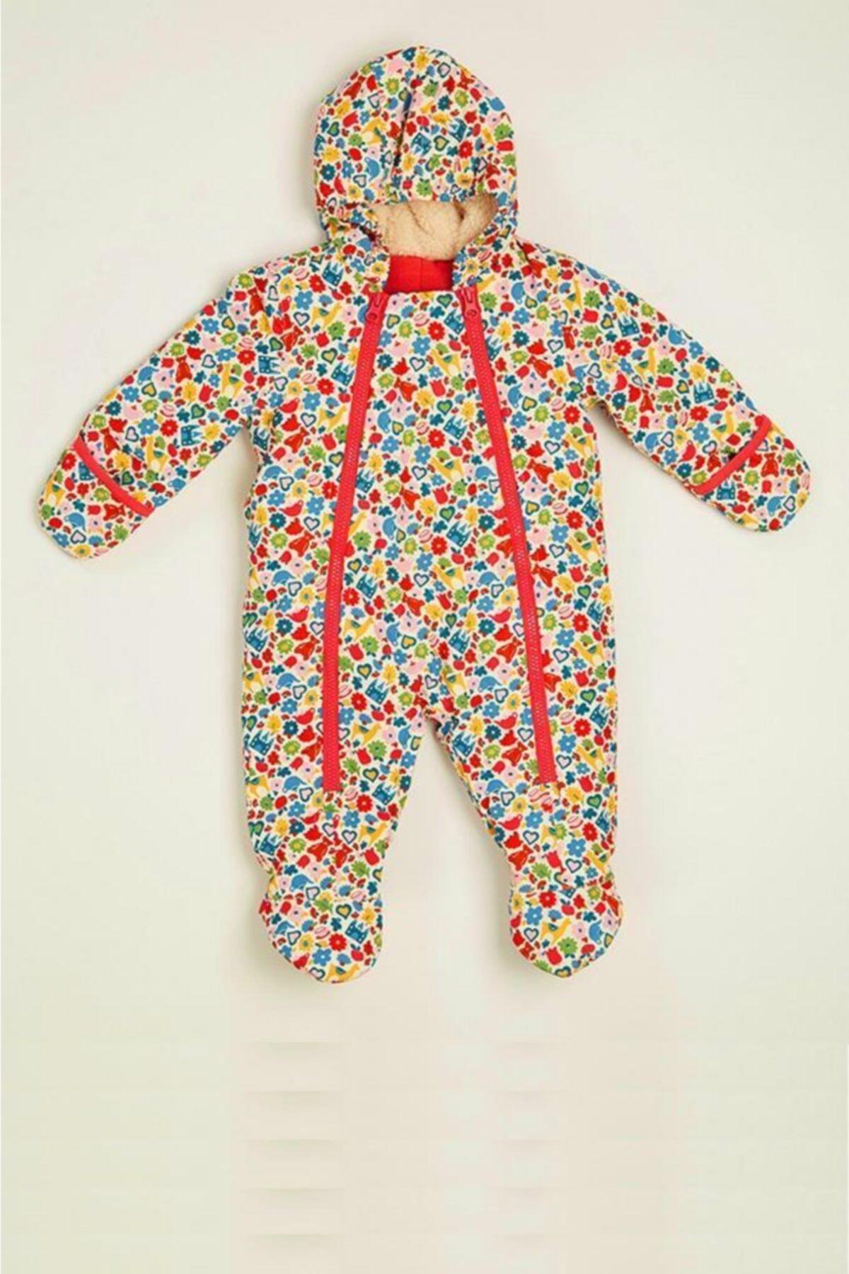 Wonder Kıds Wonder Kids Kız Bebek Kışlık Renkli Astronot Tulum Mont Mk20aw2046 1