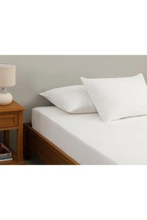 English Home Duz Penye Çift Kişilik Lastikli Çarşaf Takımı 160X200 Cm Beyaz