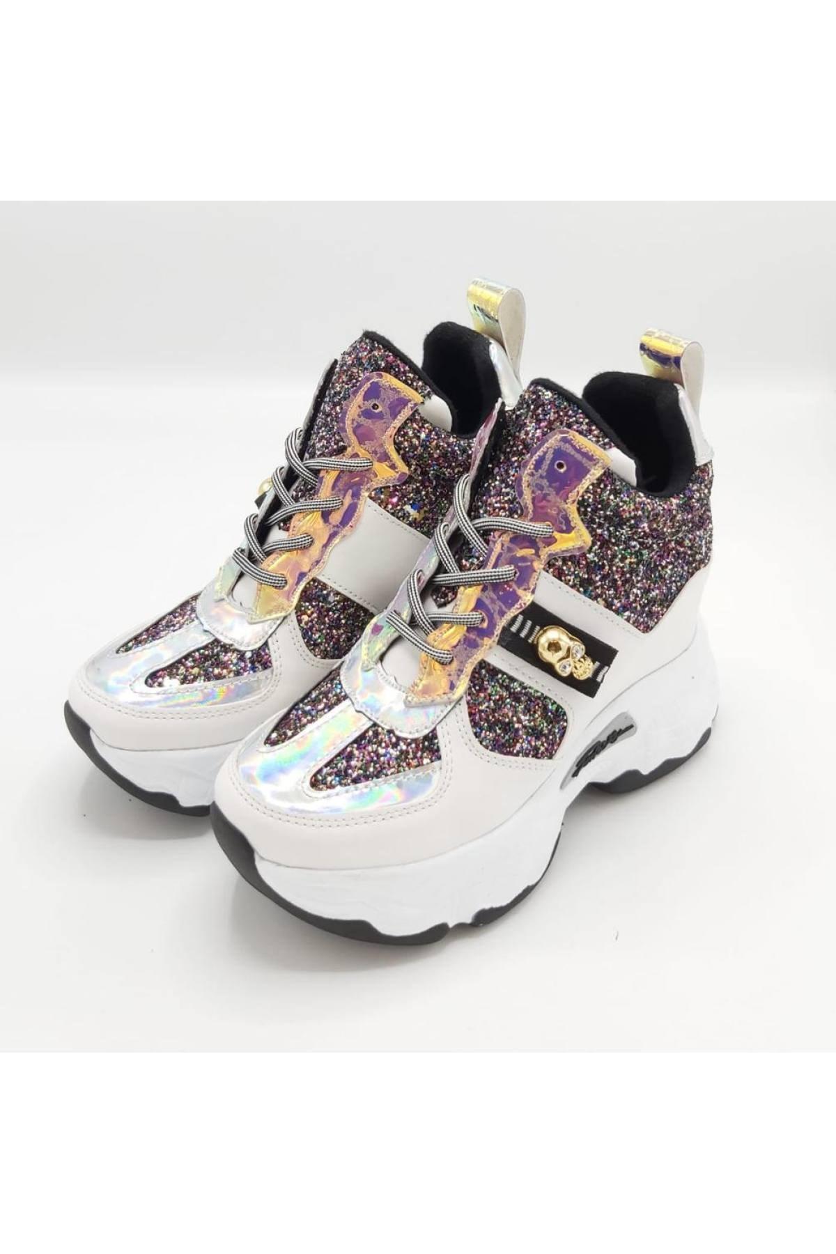 CassidoShoes Kadın Beyaz Spor Bot 1