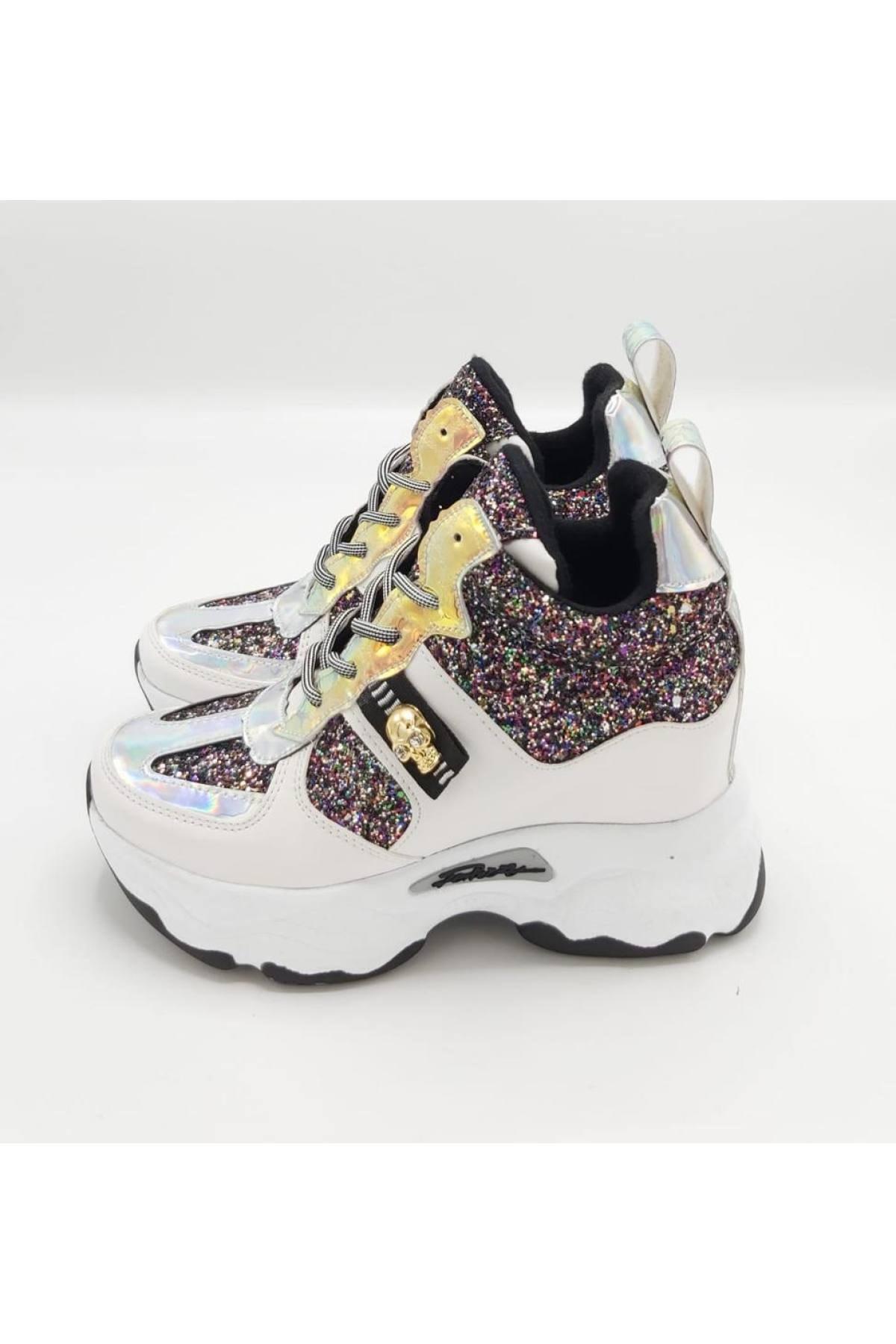 CassidoShoes Kadın Beyaz Spor Bot 2