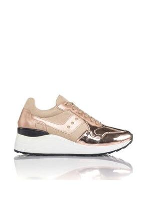 İnci Kadın Rose Vegan Ayna Süet Bağcıklı Klasik Spor Ayakkabı -3003